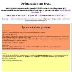 1°S - Préparation au BAC : type I, II1, II2