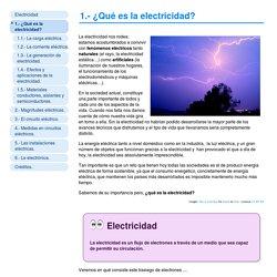 1.- ¿Qué es la electricidad?