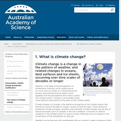 AAS: What is climate change?