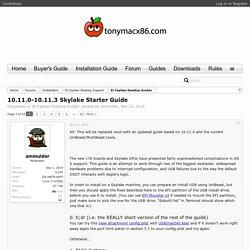 10.11.0-10.11.3 Skylake Starter Guide