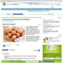 10 aliments pour faire le plein d'Oméga-3 : L'oeuf