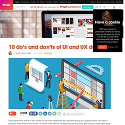 10 do's and don'ts of UI and UX design - The Next Web