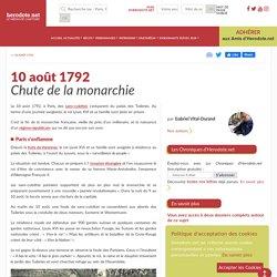 10 août 1792 - Chute de la monarchie