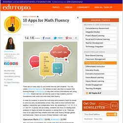 10 Apps for Math Fluency