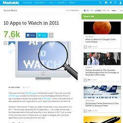 10 Apps to Watch in 2011