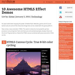 10 Awesome HTML5 Effect Demos