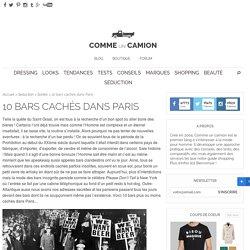 10 bars cachés / secrets dans Paris