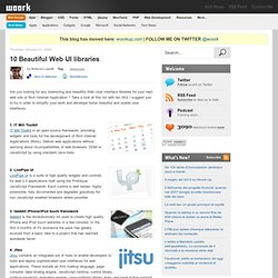 10 Beautiful Web UI libraries