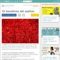 10 beneficios del azafrán