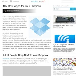10+ Best Apps For Your Dropbox