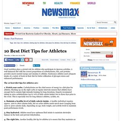 10 Best Diet Tips for Athletes