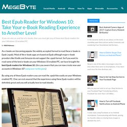 10 Best Epub Reader for Windows 10