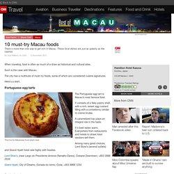 10 best Macau foods