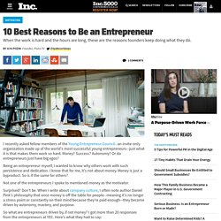 10 Best Reasons to Be an Entrepreneur
