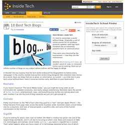 10 Best Tech Blogs - InsideTech.com