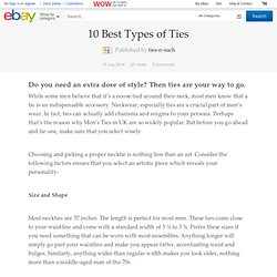 10 Best Types of Ties