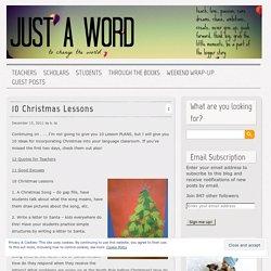 10 Christmas Lessons