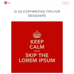 10 UX copywriting tips for designers