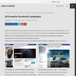 10 Creative Facebook Campaigns