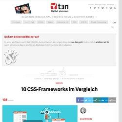 10 CSS-Frameworks im Vergleich