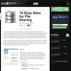 10 Easy Sites for File Sharing