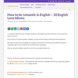10 English Love Idioms