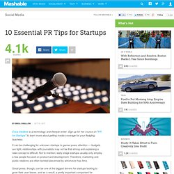 10 Essential PR Tips for Startups