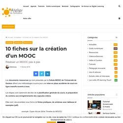 10 fiches sur la création d'un MOOC