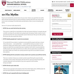 10 flu myths : Harvard Health Publications