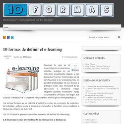 10 formas de definir el e-learning