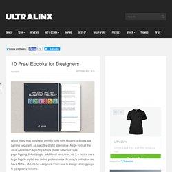 10 Free Ebooks for Designers