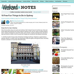 10 Free Fun Things to Do in Sydney