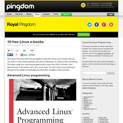10 free Linux e-books | Royal Pingdom