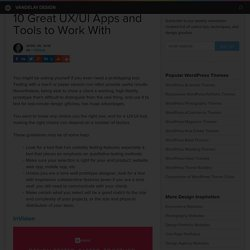 10 Great UX/UI Apps and Tools to Work With