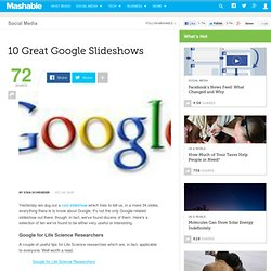 10 Great Google Slideshows