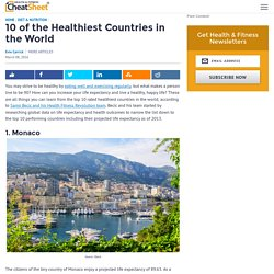 10 of the Healthiest Countries in the World