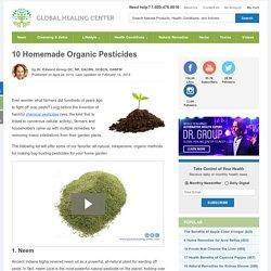 10 Homemade Organic Pesticides