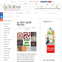 10 HST Quilt Blocks – Quilting