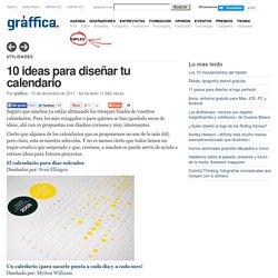 10 ideas para diseñar tu calendario