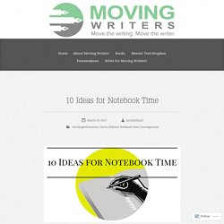 10 Ideas for Notebook Time