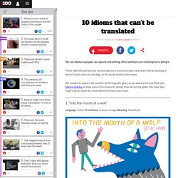10 idioms that can't be translated