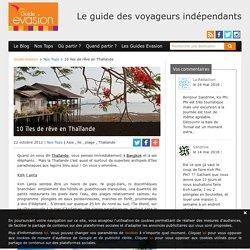 10 îles de rêve en Thaïlande
