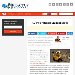 10 Inspirational Student Blogs