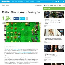 10 iPad Games Worth Paying For