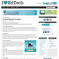 10 iPad Tips for Teachers