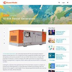 10 kVA Rental Generators