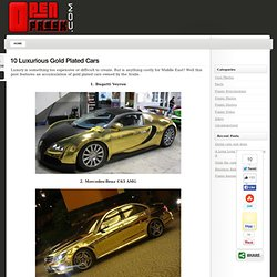 10 Luxurious Gold Plated Cars « OpenFreak.Com