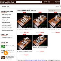 10+ mẫu Bàn trà điện Tần Thủy Hoàng bằng gỗ Hương cao cấp