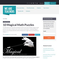 10 Magical Math Puzzles