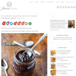 10-Minute Homemade Hot Fudge